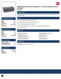 Swingline GBC 3230ST 7704280 Leaflet