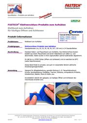 FASTECH Velcro tape sew-on Loop pad (L x W) 25 m x 107 mm White 25 m T0110700000125 Data Sheet