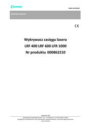 Walther Lrf 400 Laser Range Finder 2.1301 User Manual