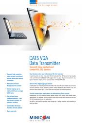 Minicom Advanced Systems VGA Data Transmitter 0VS23003A Leaflet