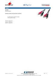 Monacor AC-601 06.5630 Leaflet
