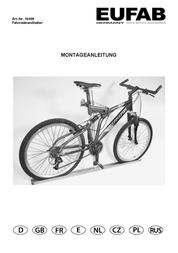 Eufab Bicycle Wall Mount 16408 User Manual