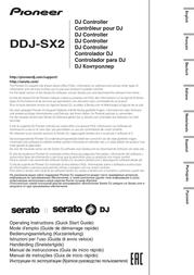 Pioneer Dj DJ Controller DDJ-SX2 DDJ-SX2 Data Sheet