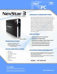 Vantec NexStar 3 NST-260SU-BK NST-260SU-BK Leaflet