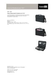 """basexx Universal Notebookcase 16,4"""" N22768P Leaflet"""