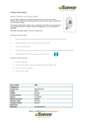 Esaver iConnect Wireless humidity sensor IC50 In/outdoors Max. range (open field) 30 m IC50 Data Sheet