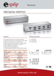 Equip VGA Splitter 332548 Data Sheet