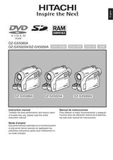 Hitachi DZ-GX5000A Manual De Propietario