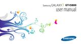 Samsung GT-I5800 User Manual