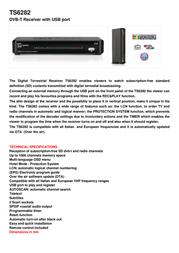 TELE System TS6282 21005183 Leaflet