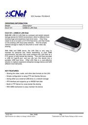 Cnet CLD-101 Leaflet