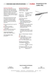 Molex CAA-00326 Leaflet