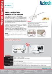 Aztech WL568USB Product Datasheet