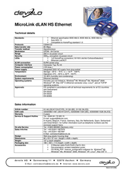 Devolo MicroLink dLAN Highspeed Starter Kit 1150 プリント