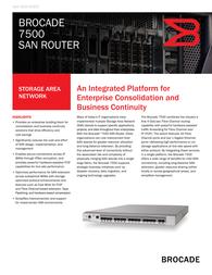 Brocade 7500 SAN Router BR-7500-0001-A1 Data Sheet