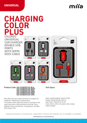 Miia Charging Color Plus AA-CUSB2PLUS-ORG Leaflet
