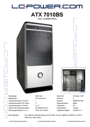 LC-Power 7010BS ATX 7010BS Leaflet