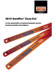 Bahco Sandflex Easy-Cut 3819 User Manual