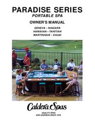Caldera Paradise Series User Manual