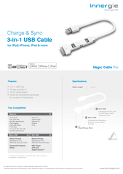 Innergie Magic Cable Trio TACC-FMD70GRAP2 Leaflet