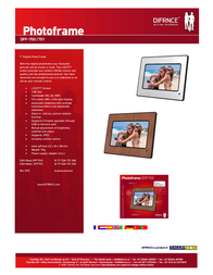 Difrnce Photoframe DPF700 Wood DPF700 Leaflet