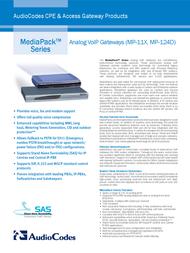 Audiocodes MediaPack 112 MP-112/FXS/AC-3 Leaflet