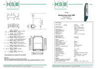 Hsb Industrieelektronik 011089 Time Delay Relay, Timer, 011089 Data Sheet