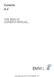 BMW 2015 BMW i8 Owner's Manual