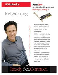 US Robotics 10/100 Mbps PCI Network Card USR997900 Leaflet