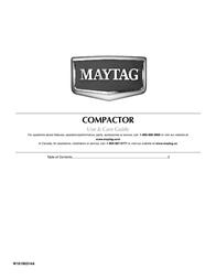 Maytag W10190314A User Manual