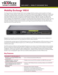 Trapeze Networks MX-8 Mobility Exchange MX-8-EU Data Sheet