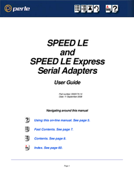 Perle SPEED1 LE Express 04003140 User Manual