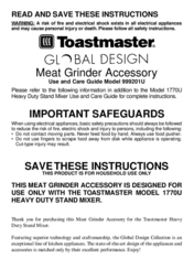 Toastmaster 999201U User Manual