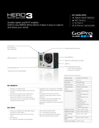 GoPro HERO3: White Edition 130-01529-000 Leaflet
