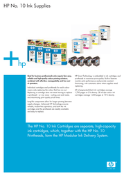 HP 10 Yellow Ink Cartridge C4842AE Leaflet