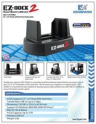Kingwin EZ-dock 2 EZD-2536U3 Leaflet