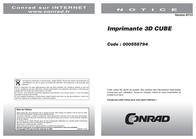 3D Systems Cube 381000 Data Sheet