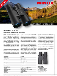 Minox BV 8x56 BR 62198 Leaflet