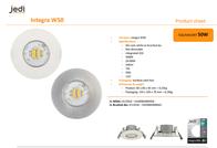 Jedi Lighting Indoor panel mounted lamp JE12910 White JE12910 Data Sheet