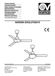 """Vortice Nordik Evolution R 90/36"""" 61750 User Manual"""