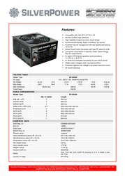 Silver Power SP-SS500 12692 Leaflet