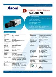 Asoni CAM678H-POE Leaflet