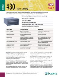 Exabyte 315205 Leaflet