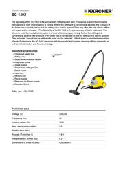 Kärcher SC 1402 1.702-150.0 User Manual