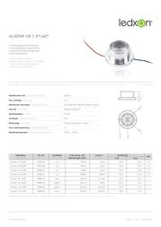 Ledxon LED-module ALUSTAR 1 W 3°/60° 9009138 Warm white Max 66 lm 1 W (Ø x H) 34 mm x 16 mm 9009138 Data Sheet