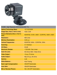 COP-USA cc32-b Specification Guide