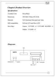Chieftec Hi-Fi Series HE-02 Black HE-02B-OP User Manual