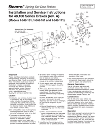 Stearns 1-048-151 User Manual
