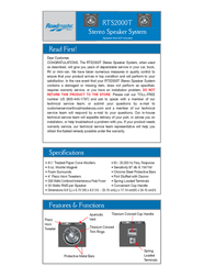 Roadmaster RTS2000T User Manual