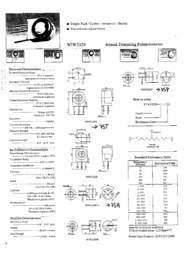 Vishay 75 P 1M Precision Trimming Potentiometer 75 P 1M Data Sheet
